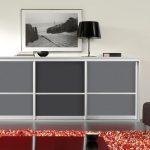 Slizing-dressoir-in-decorpaneel-Grijs,-Grafiet-Grijs-en-Grijs